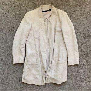 Linen tan blazer Zara size XS